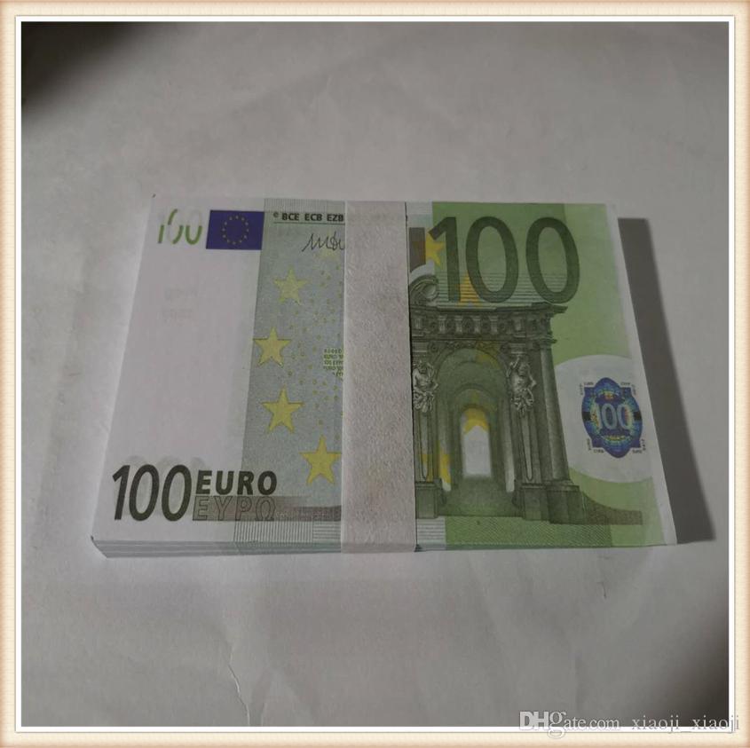 EURO SIMULACIÓN Hot-Selling Coin Television Dinero Juguete Barra de tiro y Fake 100 Juego Props Práctica de película Token01 JGXSR