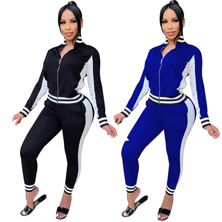 Damen Hoodie Legging Zwei Teile Set Outfits Langarm Trainingsanzug Jacke Hosen Sportswear Täfelte Oberbekleidung Strumpfhosen Sport Set Hot KLW5170