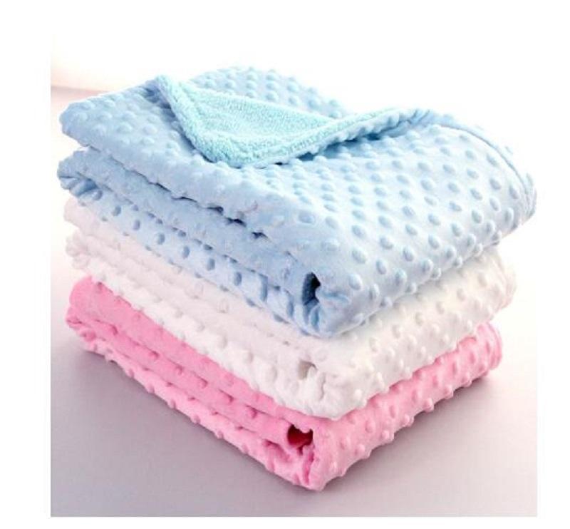 Baby Blanket & Swaddling Newborn Thermal Soft Fleece Blanket Solid Bedding Set Cotton Quilt Nursery Bedding Infant Bedding Swaddle Wrap
