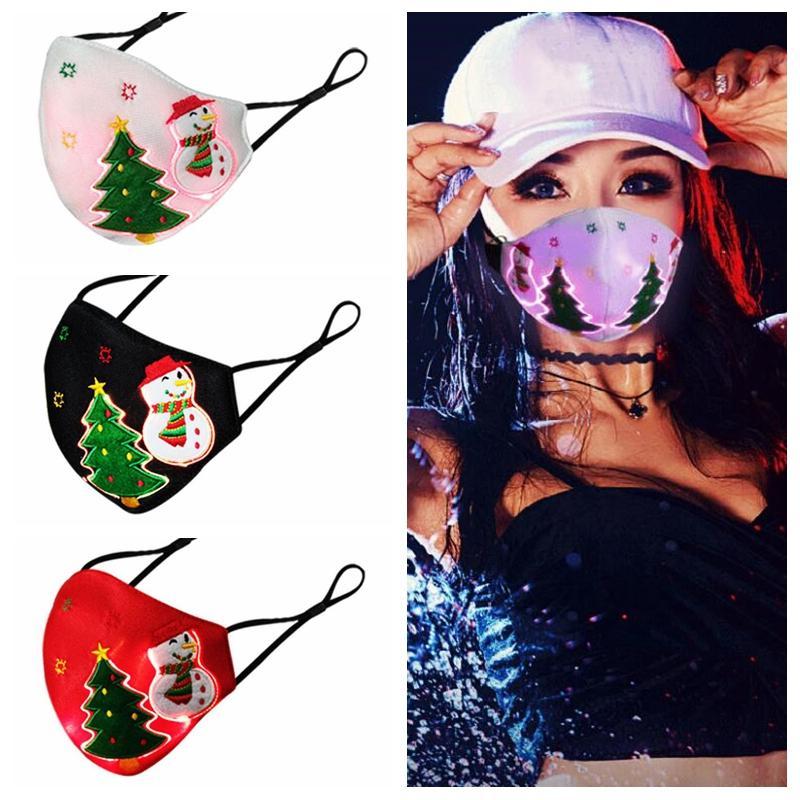 Festival Parti Masquerade Rave Maske Tasarımcı Maskeler CCA12619 için ışık Maskeler LED PM2.5 Filtreli Noel Parlayan Maskesi 7 Renk