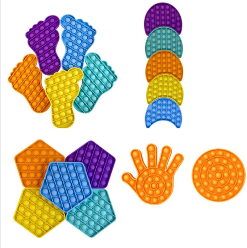 Feet Hands Shape Push Pop It Fidget Toy Sensory Squeeze Toys for Adult Kids Anxiety Autism Stress Reliever Increase Focus Table Game G11501