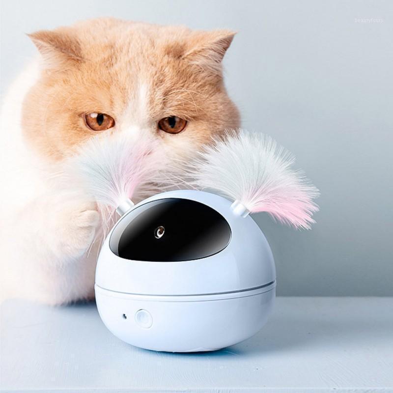 الكهربائية القط لعبة القط الذاتي دعابة لعبة الدورية الأشعة تحت الحمراء ضوء هريرة التفاعلية لغز الذكية الحيوانات الأليفة ريشة pet product1