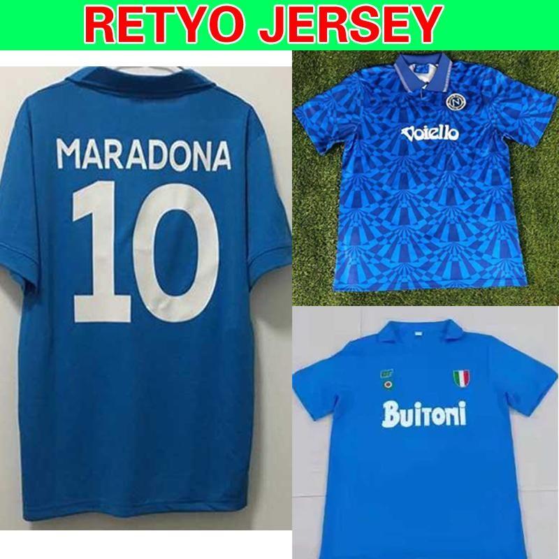 NCAA Napoli 1987/1988 Napoli Maradona 10 Retro Camisetas de Futbol Personalizzato Soccer Kit Soccer Kit Soccer Jerseys Thailandia Qualità calcio