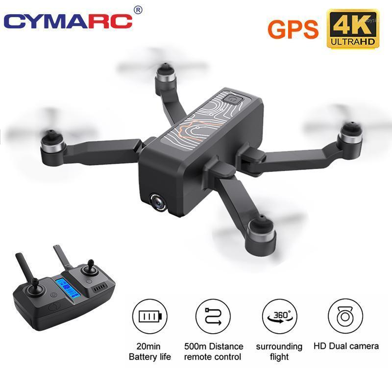 Cymarc W13 DRONE 4K HD Doppelkamera Folgen Sie mir GPS Quadcopter FPV Professional bürstenloser RC-Drohner Hubschrauber VS SG907 SG906 Pro1