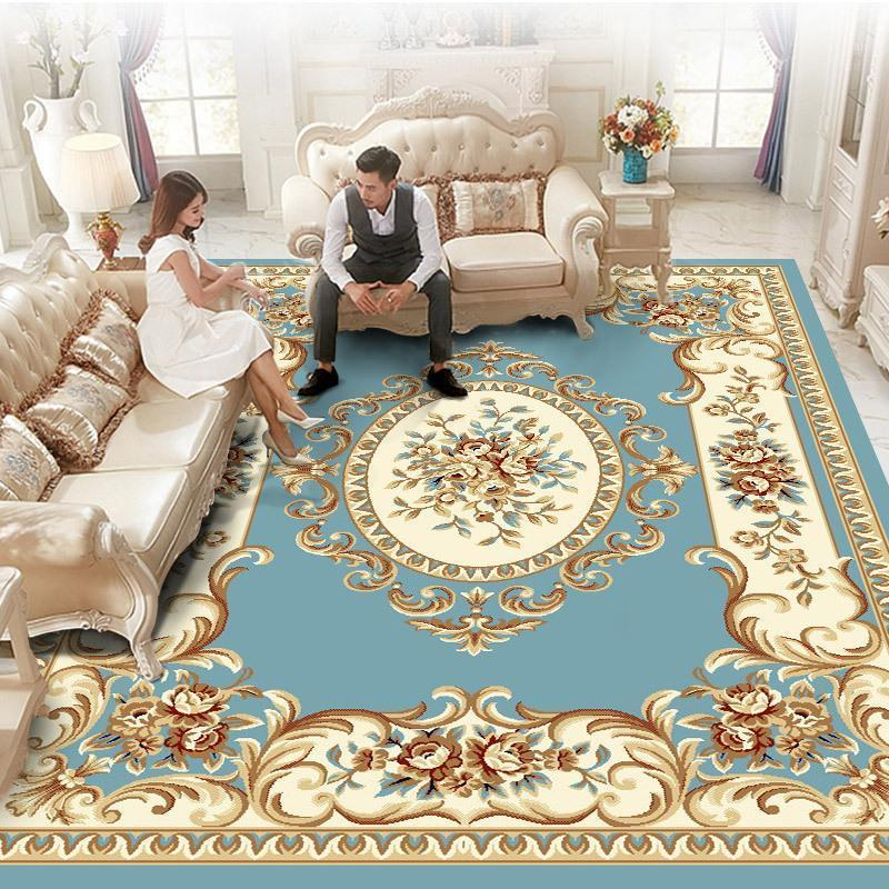 Modern Jakarlı Halılar Oturma Odası için Ev Avrupa Kalın Halı Yatak Odası Halı Polipropilen Kanepe Kat Mat Çalışma Kilim1