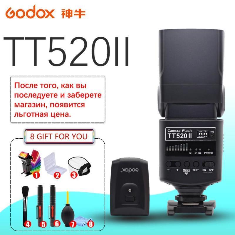 Godox520 II Flash520II mit Build-in 433MHz Wireless Signal + Farbfilter Kit für Pentax DSLR-Kameras