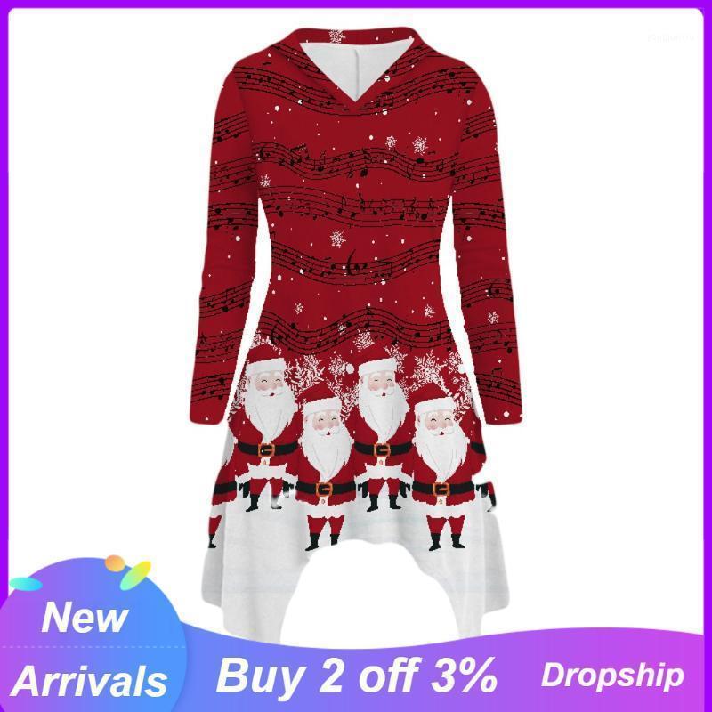 Женские блузки рубашки Chrismas Print женская блузка рубашка короткая передняя длинная спина с капюшоном и для женской рукава Blusas Feminina1