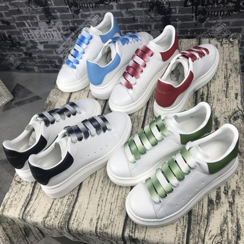 en kaliteli 2020 tasarımcı moda lüksAlexander plaka-forme McQueensMcQueen erkekler kadınlar platform ayakkabılar sepet spor ayakkabısı # 587 G83r #