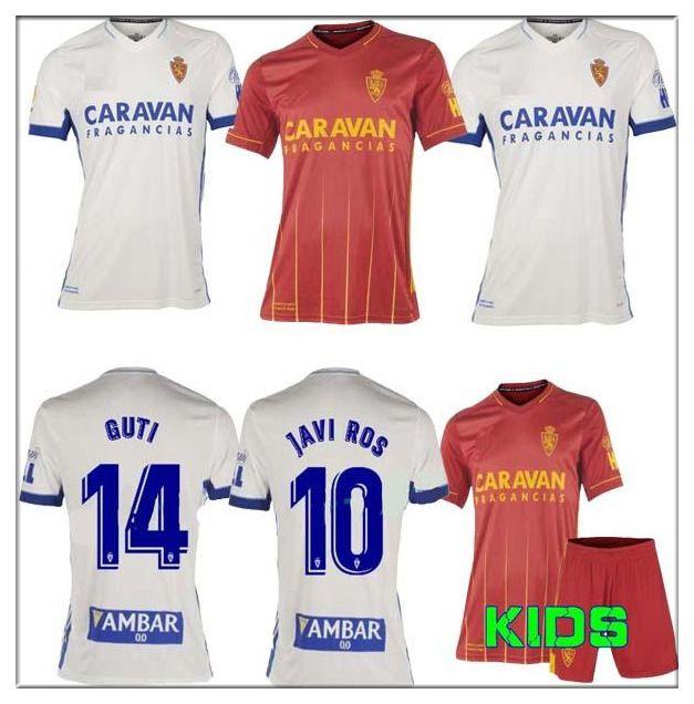 2021 echtes Zaragoza Fußball-Jersey Javi Ros Shinji Kagawa Pombo Miguel Zapater André Pereira Alberto Soro Futbol Football Hemden Kind Kits