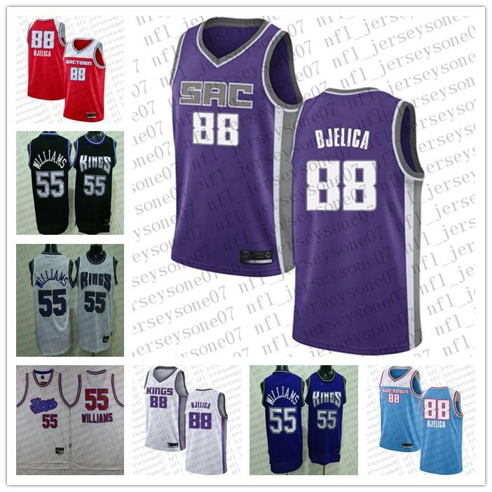 2020 personnalisé des femmes d'hommes Sacramentorois55 Jason Williams # 88 Nemanja Bjelica Basketball Camo Realtree Swingman Collection Jersey