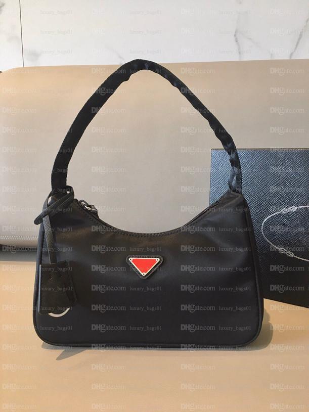 أعلى جودة جديد النسائية إعادة الطبعة 2000 حمل حقيبة الكتف الجلود النايلون المصممين الفاخرة حقيبة كتف المرأة حقيبة كتف حقيبة crossbody حقيبة يد