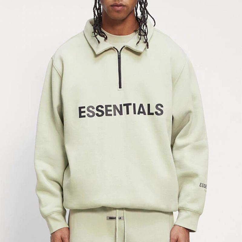 Мужская половина молнией пуловер свитер высокая шея повседневная негабаритные перемычки толстовки мужчины женщины хип-хоп скейтборд уличная одежда
