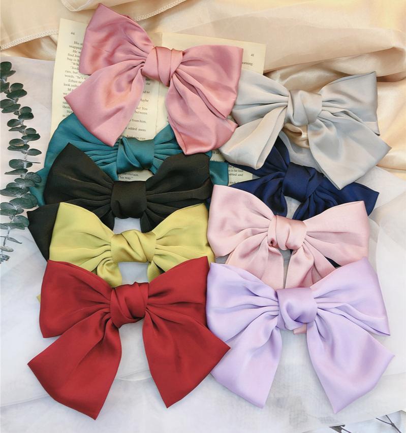 New Fashion Girls 2020 Clips Big Arcos Cinta Mujeres Satin Pins Ponytail Lindo Barrette Accesorios para el cabello para todos los días