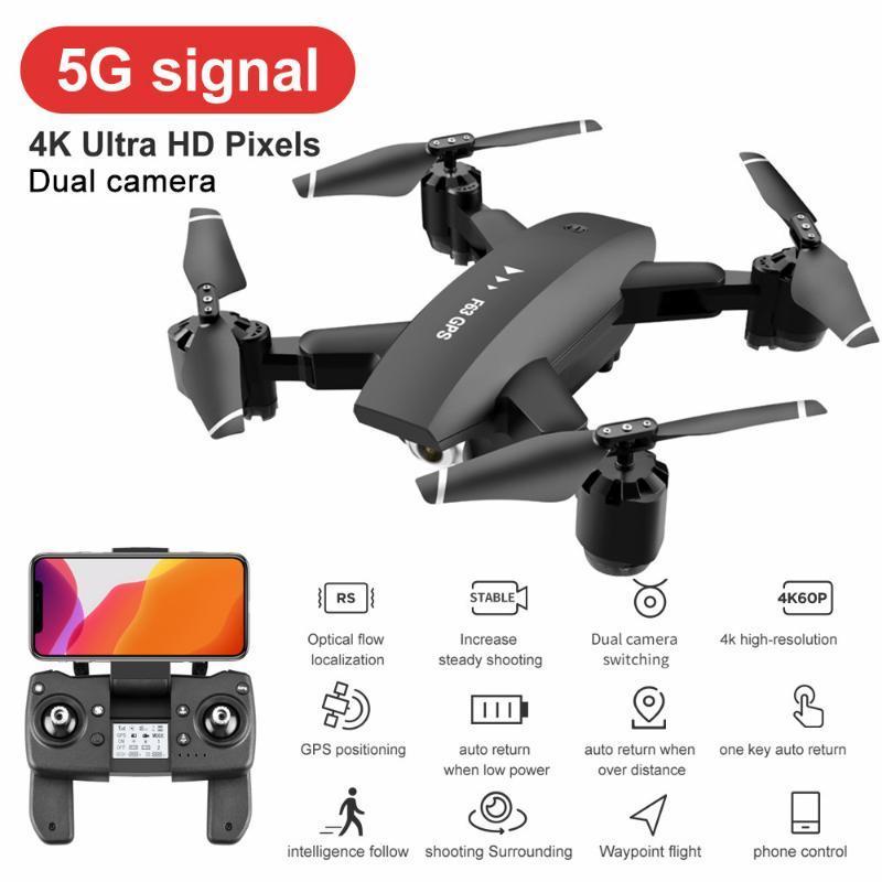 Quadcopter RC Drone с HD-камерой 4K GPS 5G FPV WiFi двойной камеры HD 1080P широкоугольный на 360 градусов вращающиеся RC игрушки для детей