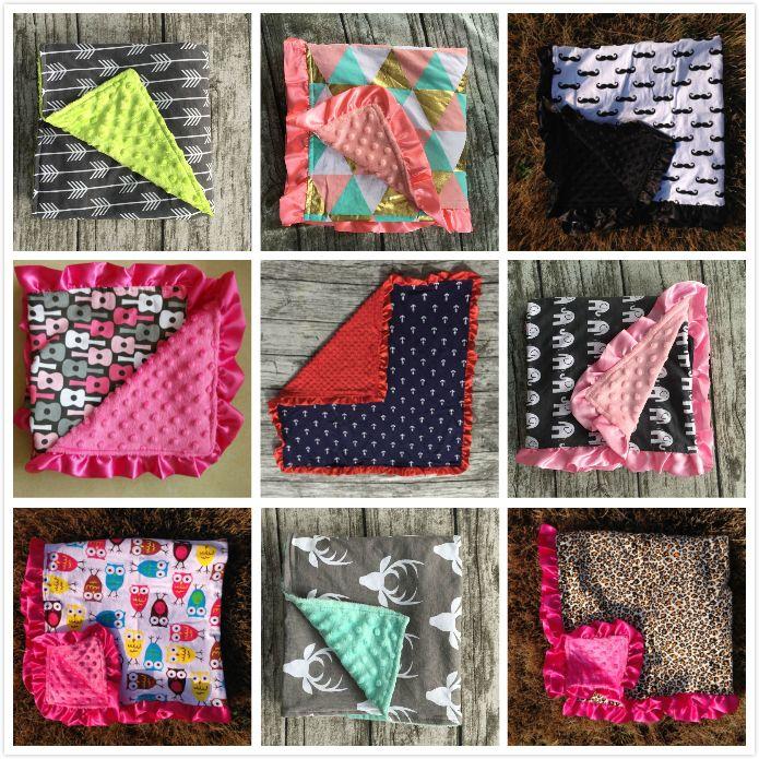 Girlymax Baby Minky вязание душевой душ подарок детское хлопок одеяло перо детское супер мягкая ферма олень мышь матч автомобильный сиденье навес 201126