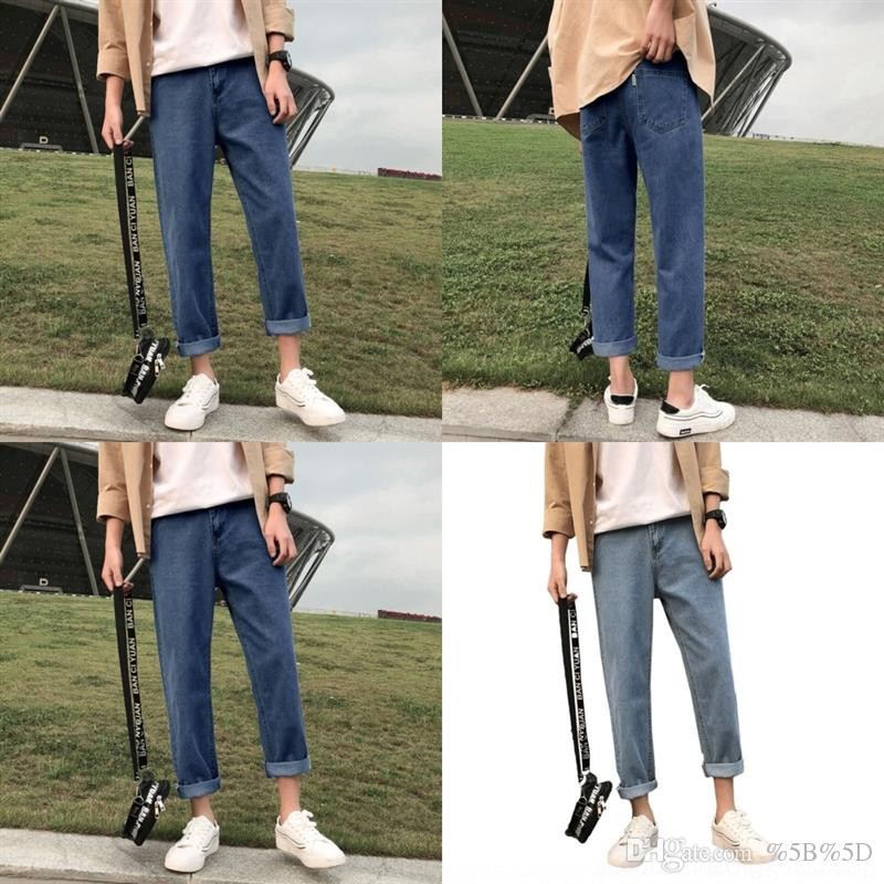 1vUF hip-hop jeans masculina Men's Denim distressed pants denim Men for man Slim Casual Brand Biker skinny rock ripped