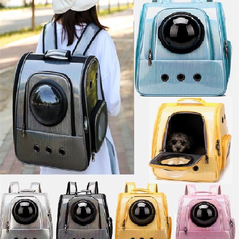 Новый складной водонепроницаемый Pet Cat рюкзак для домашних животных Сумка для домашних животных Сумка Bubble Space Pet Carrier рюкзак для кошки маленькая собака Открытая сумка LJ201225