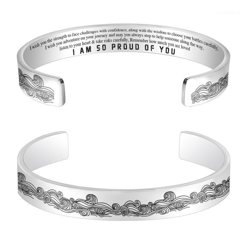 Я так горжусь тобой титановой стальной волной напечатанный браслет мода для женских ювелирных аксессуаров Gifts1