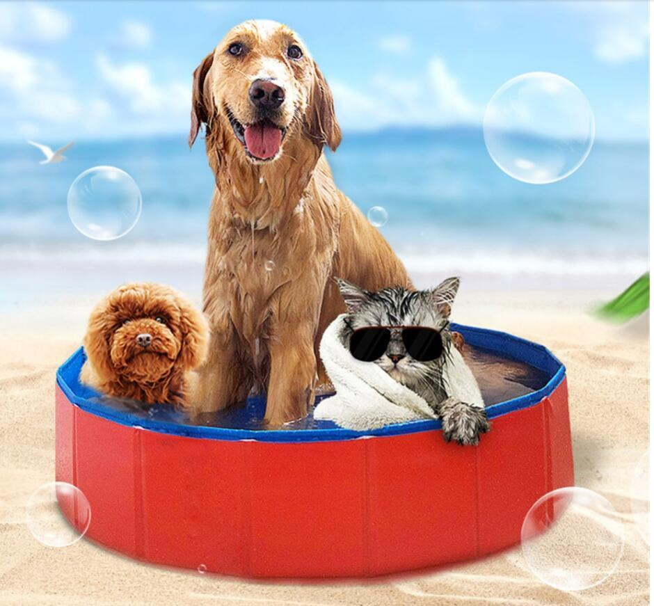Swimming Foldable Dog Durable portable bathtub Plastic For Dogs Bath Cat cleaning supplies Pet Pool W0107