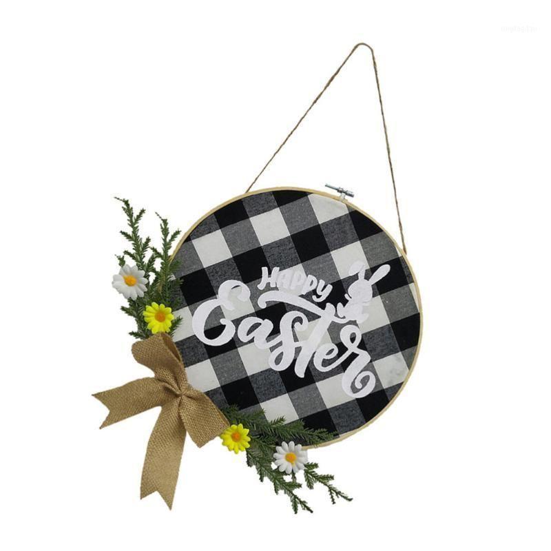 Декоративные цветы венки 1 шт. Творческий пасхальный висящий декор тематический фестиваль1