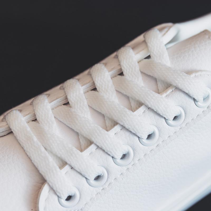 أزياء المرأة vulcanize ربيع جديد كلاسيكي بلون بو الجلود المرأة عارضة الأحذية البيضاء أحذية رياضية 201016