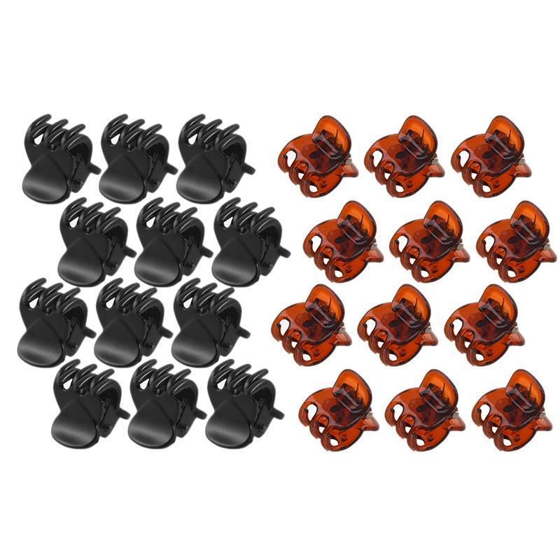 12 stücke schwarz kunststoff mini haarnadel 6 haarklemme clampe für damen 12 stücke frühling verbindung kunststoff mini haarklemmen clips für