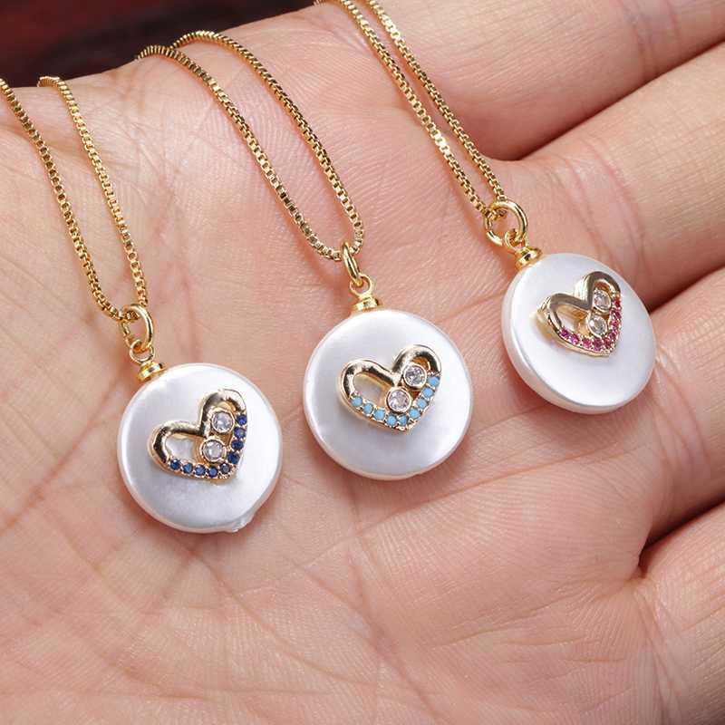 cristal violet cz dainty bleu blanc perles pave collier pendentif perle blanche charme d'amour de coeur 18 pouces choker femme bijoux tous les jours