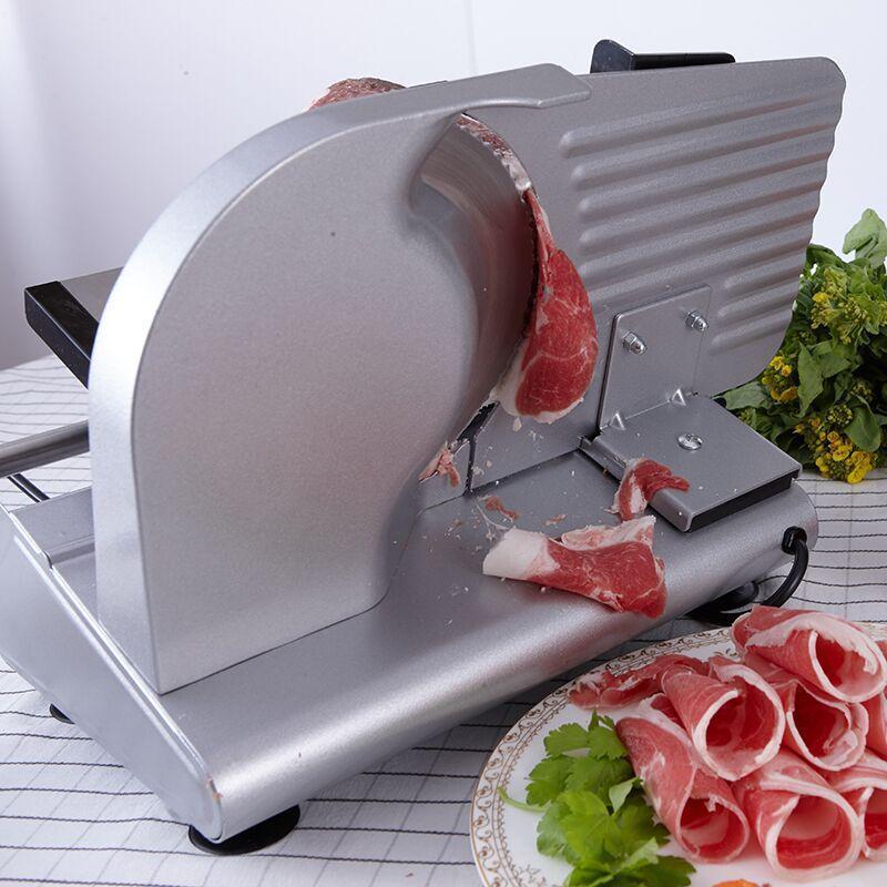 Fleischschleifer Haushalt Elektrische Rindfleisch und Hammelfleisch Slicer Commercial Toast Edelstahl Desktop Ersatzklinge ist leicht zu reinigen MS-305C1