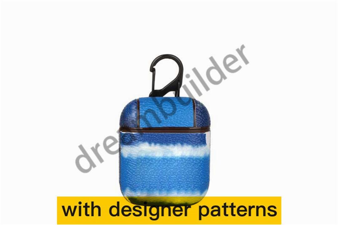 Moda Tasarımcısı Airpods Kılıfları 1/2 Yüksek Kaliteli Hayvan Mektubu Baskılı Koruma Paketi Anahtarlık KJIWS
