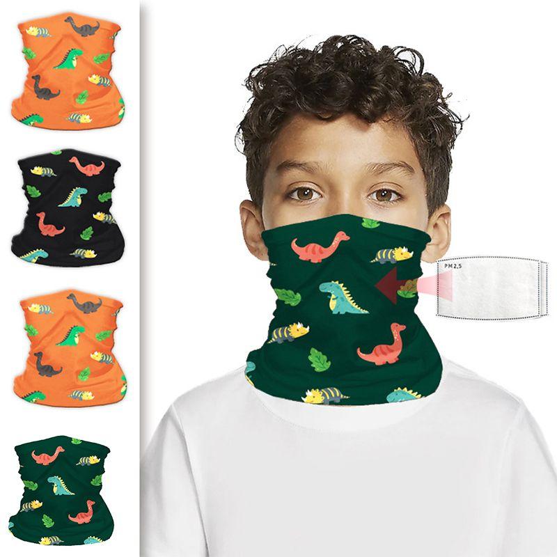 DHL Shipping Kids Dinosaur Bandana Protective Mask Warm Neck Gaiter Cartoon Magic Scarf Balaclava Face Cover for Sun UV Cycling Kimter-B176F