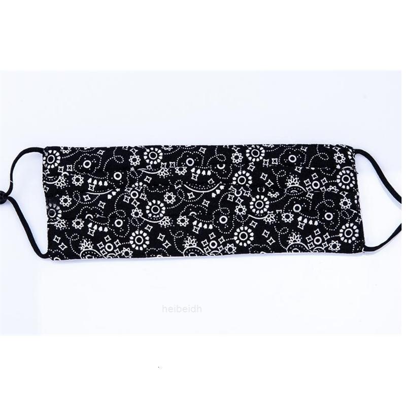Stock de concepteur américain! Motif léopard impression visage masque 5 couches filtre lavable coton coton visage masque mode mouche masque bouche fy00wes