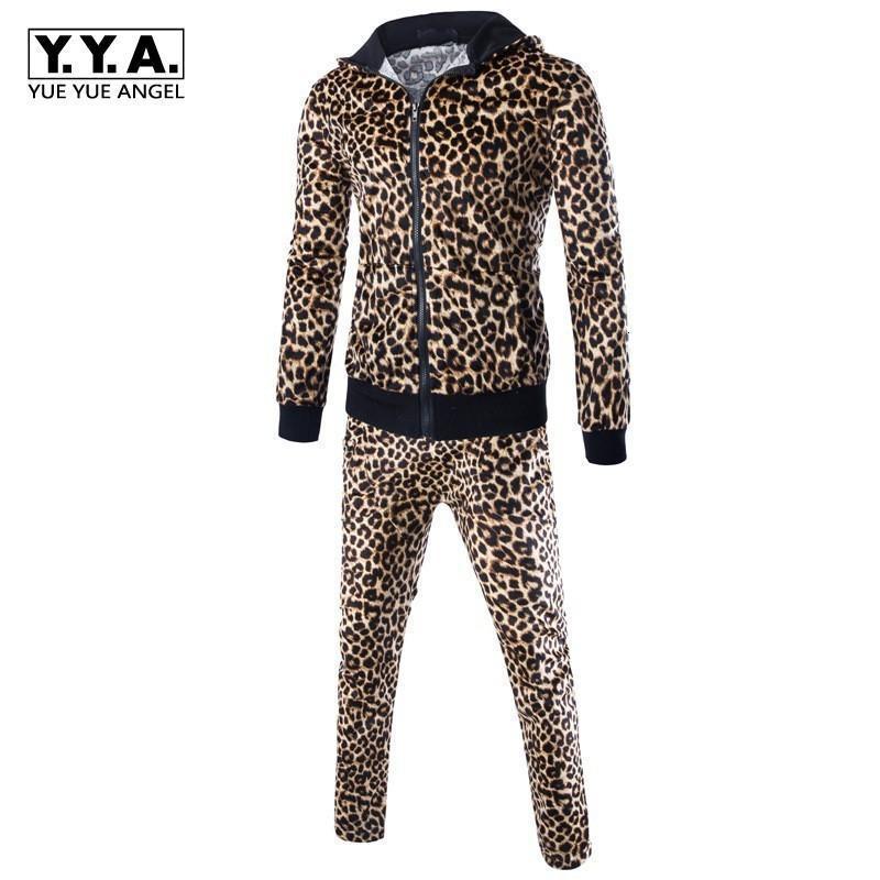 Мужские трексуиты 2021 евро моды мужские леопардовые толстовки толстовки для спортивных штангой спортивные наборы наборы пробежки повседневные одежды фитнес одежда ансамбль HOM