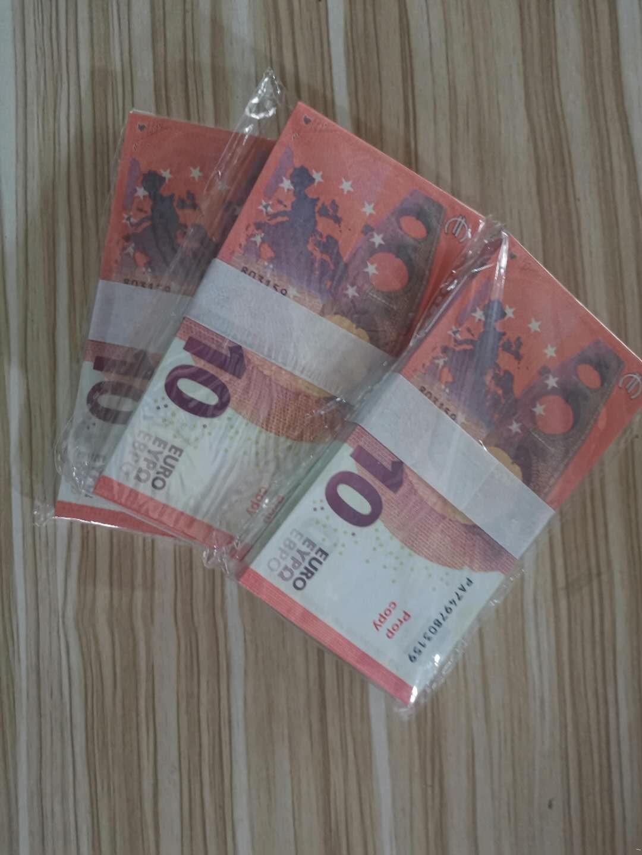 Best-selling Puntelli Banconote Simulazione di banconote in euro 100 pezzi di denaro Spray Gun Euro gioco Props Banconote all'ingrosso