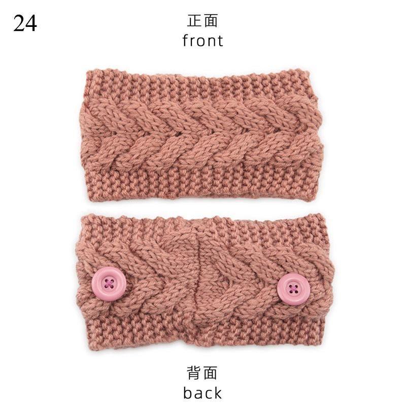 Winter Women Knitted Headband With Button Crochet Bow Wide Twist Hairband Lady Mask Holder Turban Elastic Head Wrap Headwear Q bbycsi