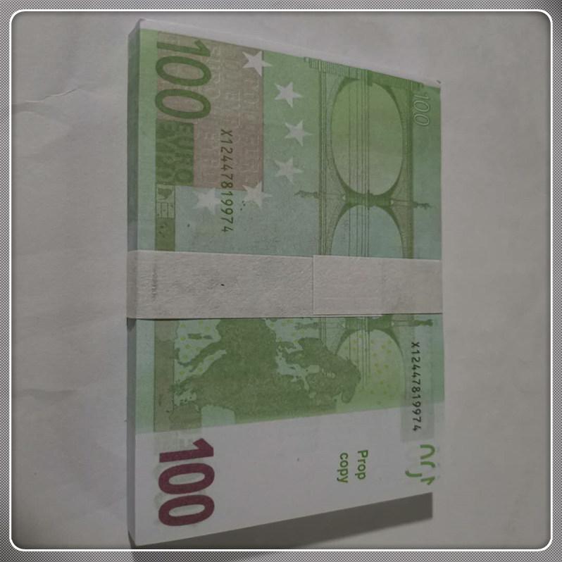 Nouveau euro enfants pesus billet 100 jouet magie accessoires contrefaites euro fausse papier cadeau LE100-38 PROP ARGENT BUBTET HHXSU