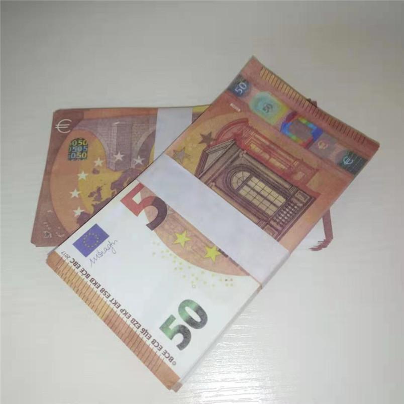 50 Euro Paper accessoires Simulation Euro accessoires Props Props Barre Atmosphère Argent faux papier argent jouets 050