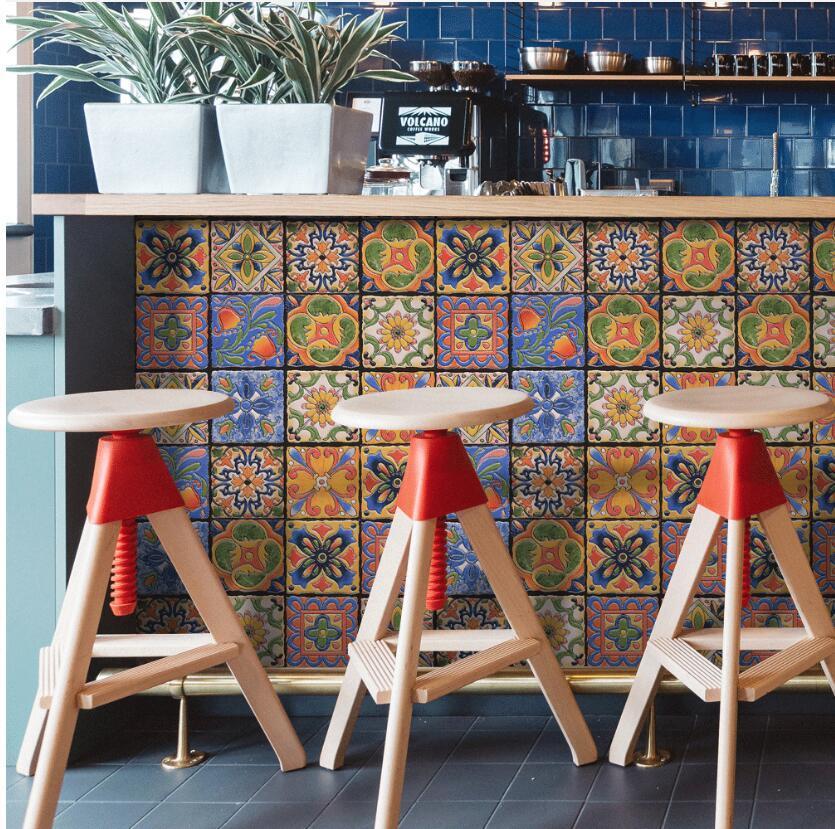 Kreative Fliesen kleben retro Wohnzimmer Schlafzimmer Tapete Wandaufkleber Küche Ölbeweis Toilette wasserdicht Aufkleber
