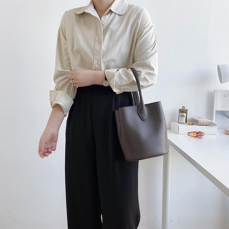 Sac de style unique coréen épaule Nouveau godet de mode Skanting Retro Tendance Sac à main pour femmes JREFO
