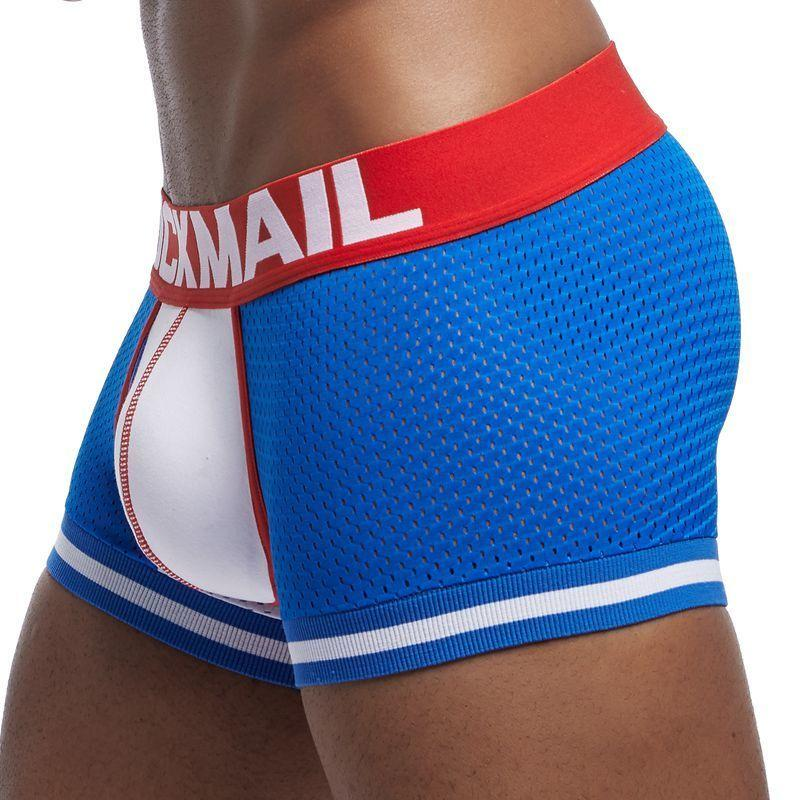 Jockmail nuevo 1 unids / lote hombres ropa interior boxeadores malla cuecas boxeadores hombres boxeador homme boxershorts gay hombres masculinos bragas T200216