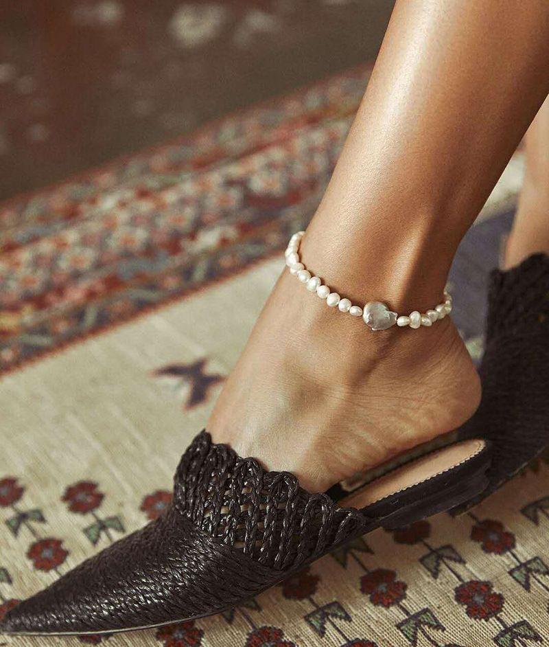 Irrégulière bracelet de perles d'eau douce baroque goutte naturel cadeau femme pas fondu peut être porté dans le bain