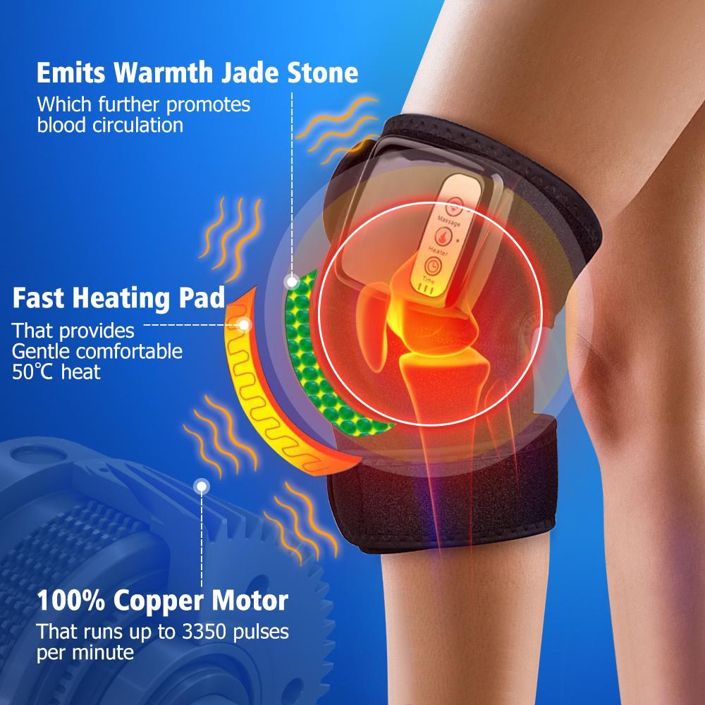 التدفئة الركبة مدلك البعيدة الأشعة تحت الحمراء الجسم المشتركة الكتف كوع دعم هدفين علاج آلام الركبة massageador الركبة مشتركة therapyrab