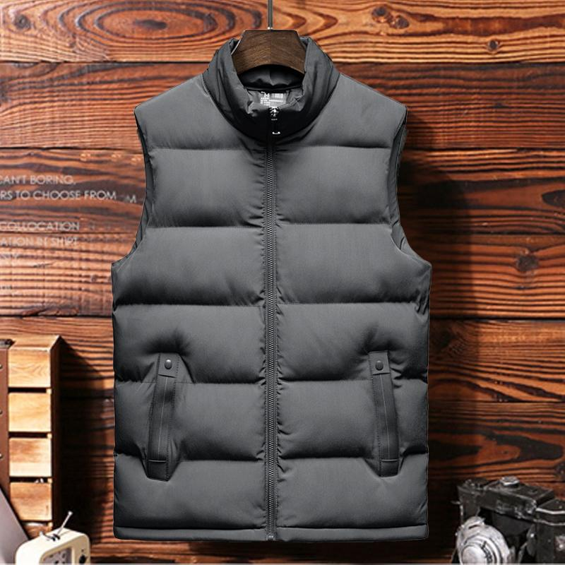 Yeni Sonbahar Erkekler Ceket Kolsuz Yelek Kış Ceket Erkek Casual Coats Erkekler Yelek Man Sıcak Kalınlaşmak Yelek 5XL