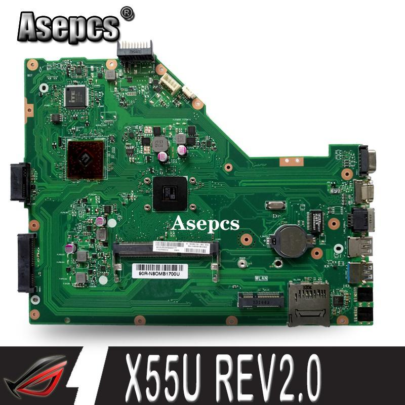 Asepcs X55U Laptop motherboard For Asus X55U X55 Test original mainboard