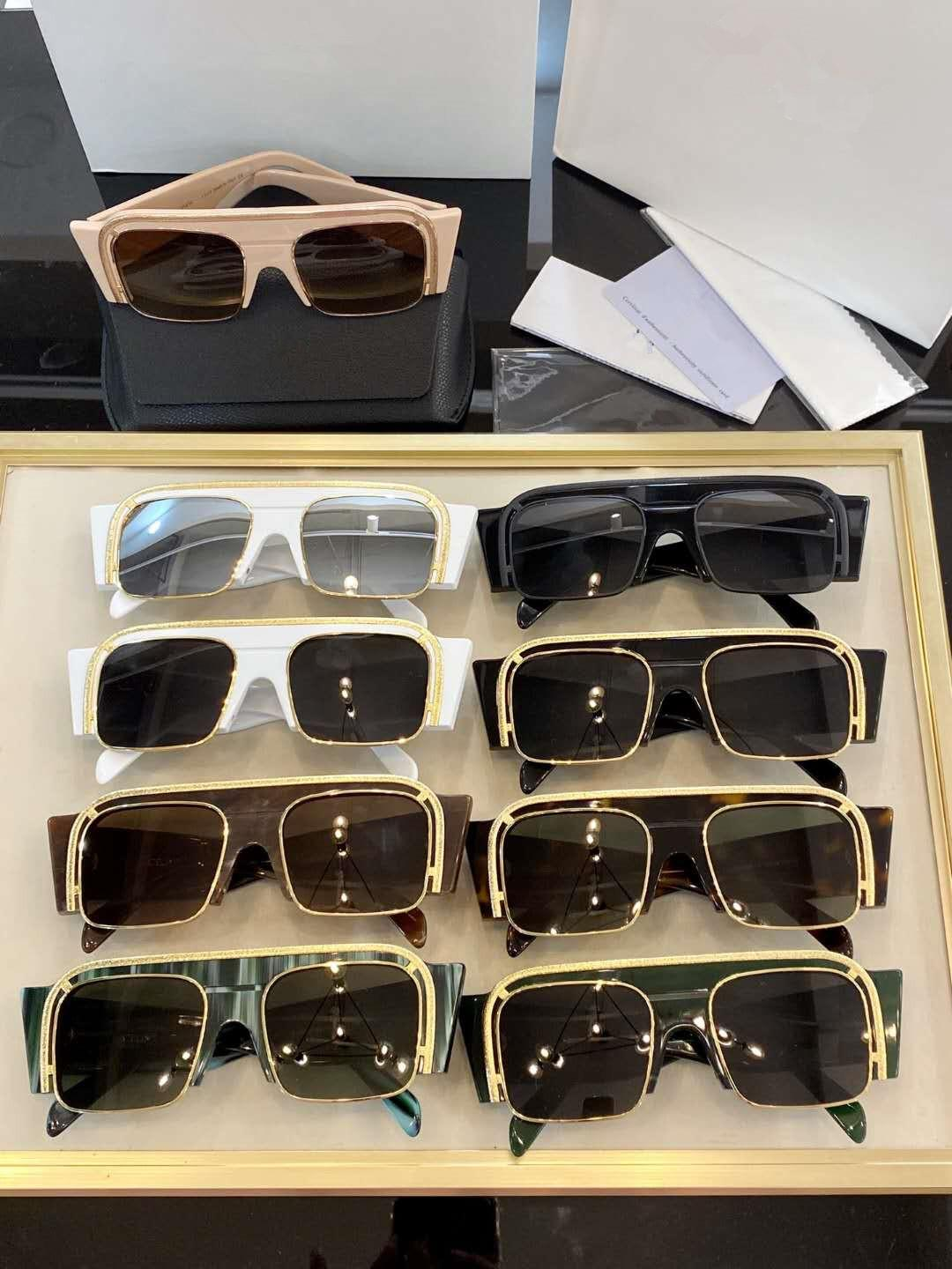New Plate Three-dimensional Sunglasses Imported From Italy High-definition Lenses Novel Eyewear All-match Simple And High-quality Original E