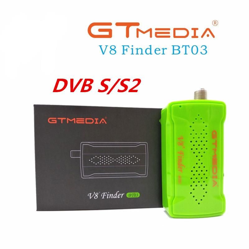 DVB-S2 [[Véritable] GTMedia Bluetooth Satellite Finder compteur V8 Finder BT03 Mini Satfinder Mise à jour de Freesat BT01 Avec Android système IOS