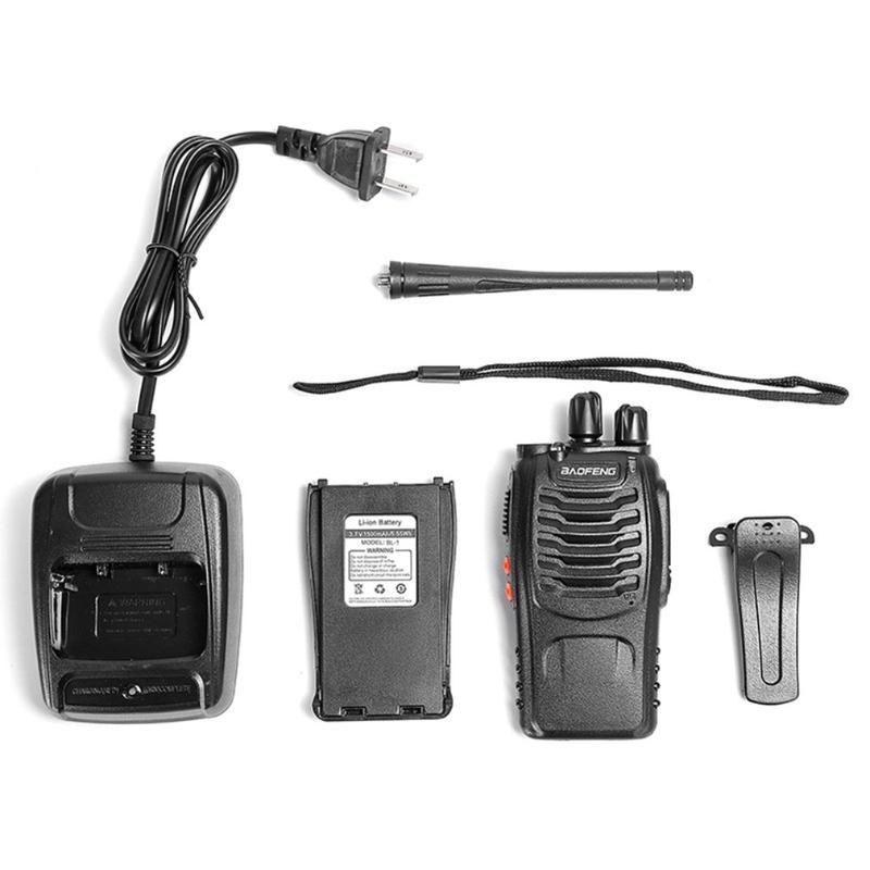 2pcs / lot BAOFENG BF-888S Walkie talkie UHF Dois Baofeng 888s maneira de rádio UHF 400-470MHz 16CH Transceptor portátil com fone de ouvido