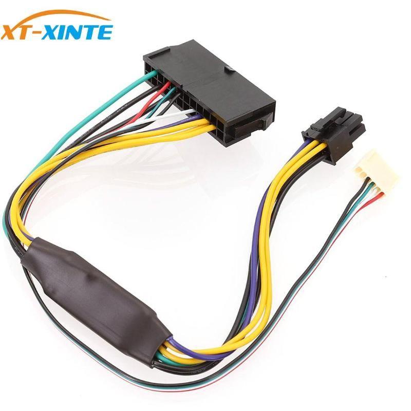 ATX de 24 pines a la placa base 2 puertos 6pin Cable energía adaptador de fuente de alimentación de energía para Z220 Z230 SFF placa base de servidor de estación de trabajo de 30 cm