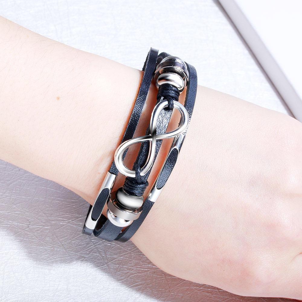 Заводская цена новая мода ручной работы браслет 8 для женщин многослойные обертывающие браслеты браслеты ювелирные изделия