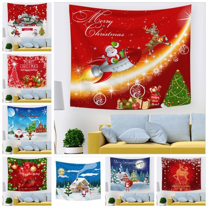 40 Tasarımlar yortusu Şükran Günü Noel Mats YHM85-1 Asma yetişkinler ve çocuklar Duvarı için Şenlikli duvar halıları Blanket Blanket