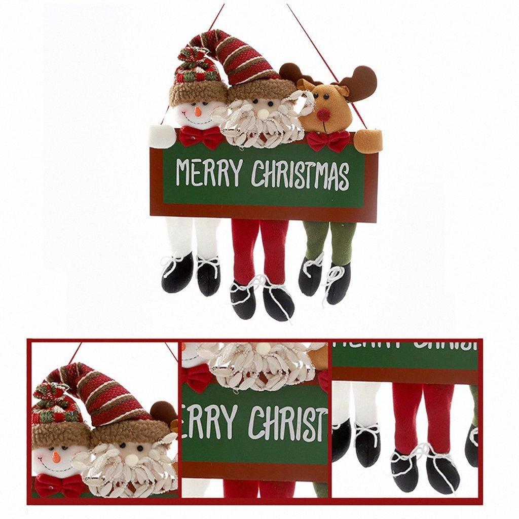 Деревянная куклы кулона Праздничных украшений партии Три кукла деревянная Симпатичная Транскрипция Поставка Подвеска партия Симпатичный рождественские куклы Christma ivX5 #